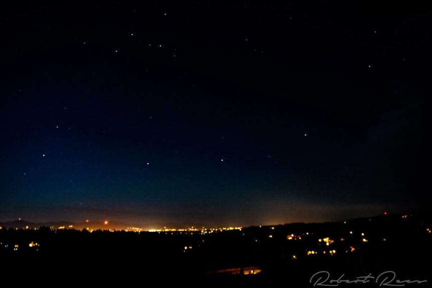 Spokane Valley, Washington at Night